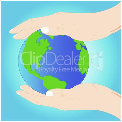 globe in hand.eps
