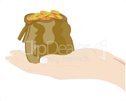 hand with money.eps