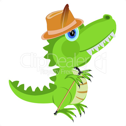 dinosaur in hat.eps