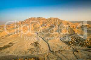 Aerial View of R Valley of the Kings on the West Bank of the Nil