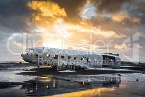 Crashed DC3 on Icelandic Beach