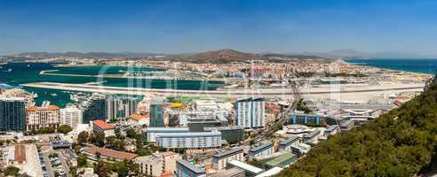 Panorama of Gibraltar Airport
