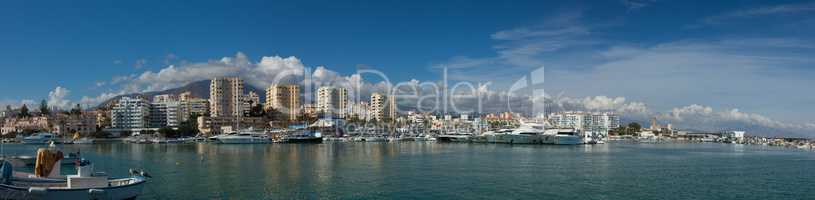 Panorama of the Port at Estepona, Costa del Sol, Spain