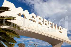 Gateway to Marbella on the Costa del Sol, Spain