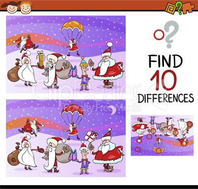 christmas differences task