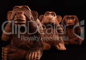 three wise monkeys