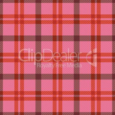 Seamless tartan rectangular pattern in pink and red