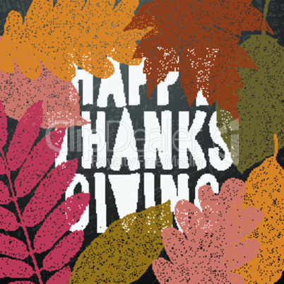Happy thanksgiving day, autumn holiday background, vector illustration.