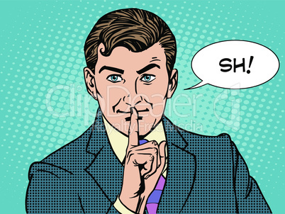 Silence mystery secret business concept