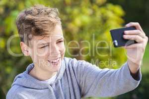 Teenager Teen Boy Male Child Taking Selfie