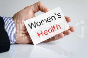 Women's health text concept