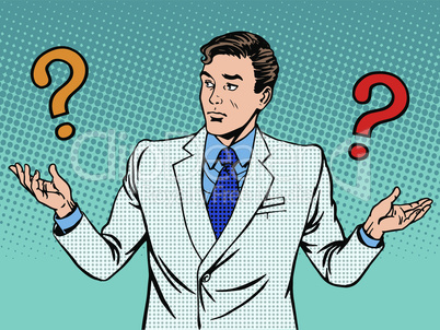 Questions businessman misunderstanding