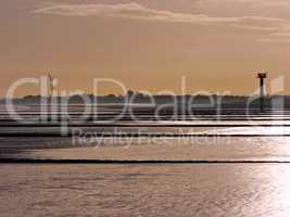 Elbe bei Ebbe bei Cuxhaven