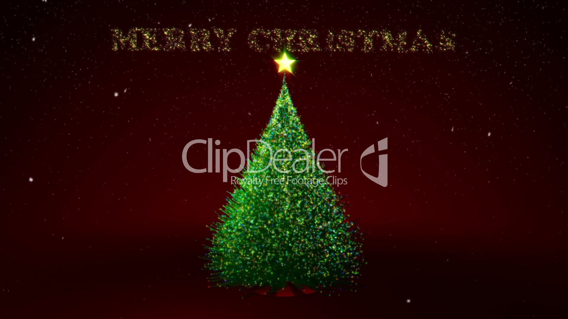 Christmas tree with colour lights and Christmas text: Royalty-free ...