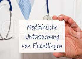 Medizinische Untersuchung von Flüchtlingen