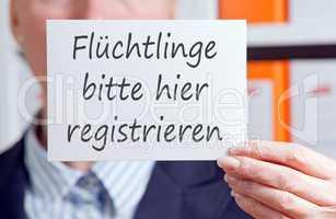 Flüchtlinge bitte hier registrieren