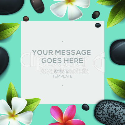 Health and beauty template, concept for spa salon, vector illustration.