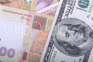 Ukrainian hryvnia and the american dollars