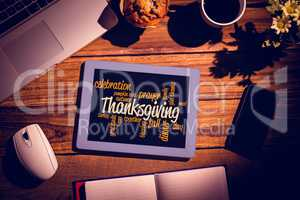 Composite image of thanksgiving words