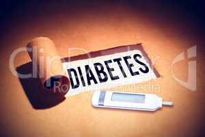 Composite image of diabetes