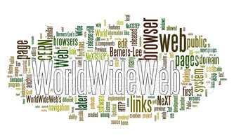 world wide web text cloud