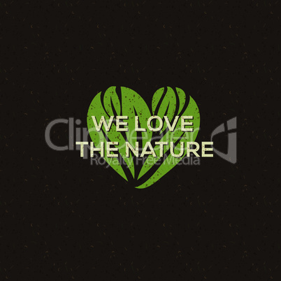 Organic food logo, emblem for natural food and drink, vegetarian restaurants and products, vector illustration.