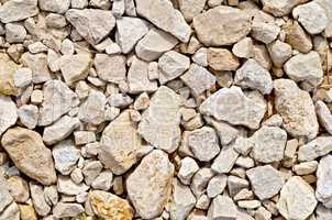 Crushed sandstone on dirt road