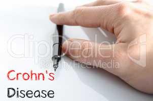 Crohn's disease text concept