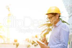 Asian Indian male contractor engineer