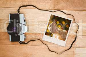Composite image of instant photo
