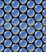 crystal ball array pattern blue