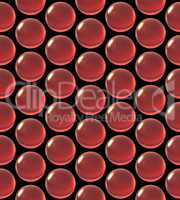 crystal ball array pattern red