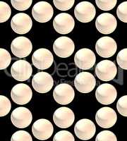crystal ball array pattern white empty