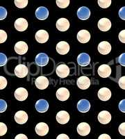 crystal ball dot pattern white blue