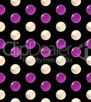 crystal ball dot pattern white pink