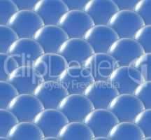 crystal ball overlap pattern blue