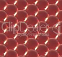 crystal ball overlap pattern red