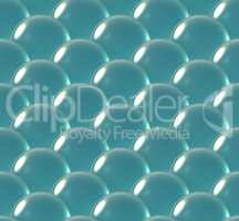crystal ball overlap pattern sea blue