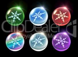 crystal ball Christmas set flare