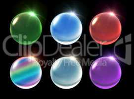 crystal ball Christmas set snowfall