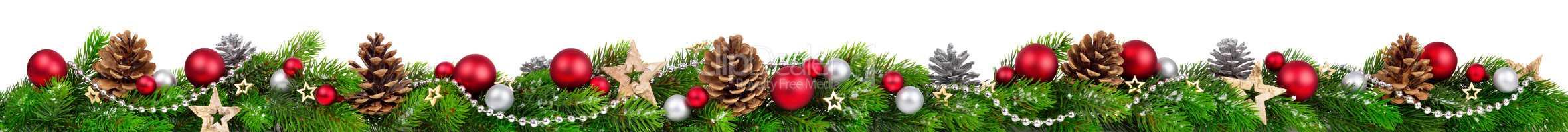 Weihnachten Bordüre, extra breit