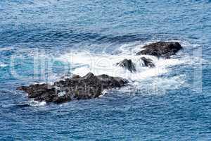 Rocks in a ocean