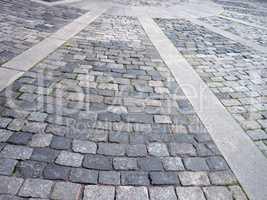 cobblestone area