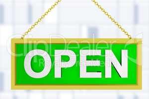 information plate open