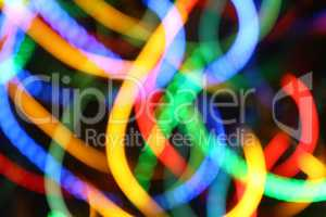 blurred color lights