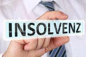 Business man Konzept mit Insolvenz Krise insolvent bankrott