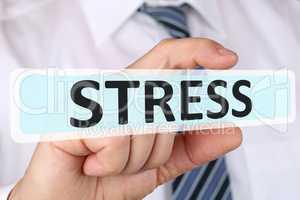 Business man Konzept mit Stress im Job Burnout Entspannung
