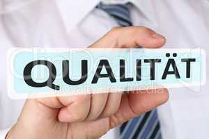 Business man Konzept mit Qualität Erfolg erfolgreich sein
