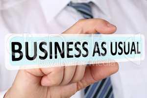 Businessman Konzept mit Business as usual Veränderung Strategie