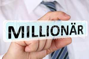 Business man Konzept mit Millionär reich Reichtum Erfolg erfolg